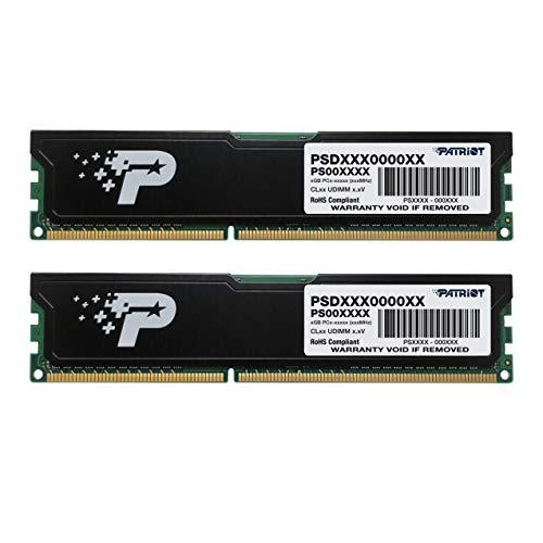 Patriot Signature 8GB DDR3 1600 MHz Arbeitsspeicher Dual Module Kit (8 GB, 2 x 4 GB, DDR3, 1600 MHz, 240 - pin DIMM) PSD38G1600KH Mit Heatspreader
