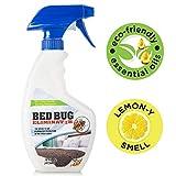 Eco Friendly Bed Bug Repellent Natural Bed Bug Spray, Non Toxic Bedbug Killer, Essential Oil Formula Bedbug Spray for Home, Mattress, Clothes, Travel, and Skin Safe, 16 oz