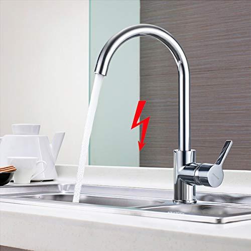 BONADE 3 Anschlüsse für Wasserboiler Niederdruck Küchenarmatur Mischbatterie Armatur Küche Wasserhahn 360° Schwenkbar Niederdruckarmatur Einhebelmischer für Untertischgerät