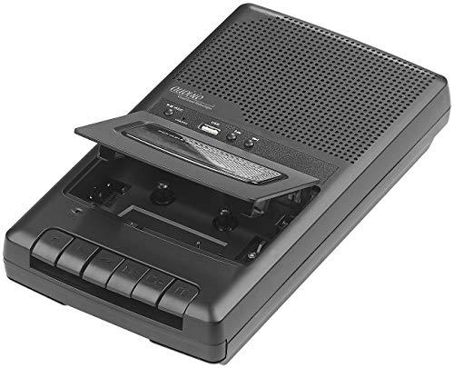 auvisio Kassetten digitalisieren: Mobiler Kassettenspieler & USB-Digitalisierer, Lautsprecher & Mikrofon (Kassettengerät USB)