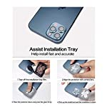 [6 Pack] YWXTW Camera Lens Protector Compatible with iPhone 12 Pro Max 6.7 inch, [Installation Tray] Aluminum Alloy Tempered Glass Camera Circle Cover (Pacific Blue)