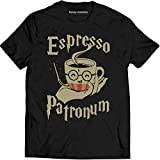 Espresso Patronum Funny T Shirt Harry Lovers Pot-TER Fan T Shirt Men T-Shirt (2XL, Black)
