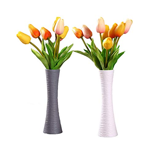 ComSaf Bud Vases Vasi Pancromatico Ceramica Set di 2, Vaso di Fiori Vasi Decorativi Moderni Collection per Ricorrenze Decorazioni per Interni Ristorante Bar Cafe Porcellana