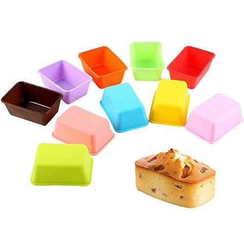 JUNGEN Mini Moules Silicone Chocolat Forme ruche Friandise pour Muffins Cupcake Gâteau Et Gelée 10 PCS (Couleur aléatoire)
