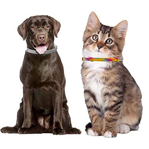 Ruimcc Collar Gato Perro, Collar de Perro Mascota Ajustable para Gato ,Gato Cachorro Perros, diseños Modernos, para Perros pequeños, medianos y Grandes. (2, 65cm)