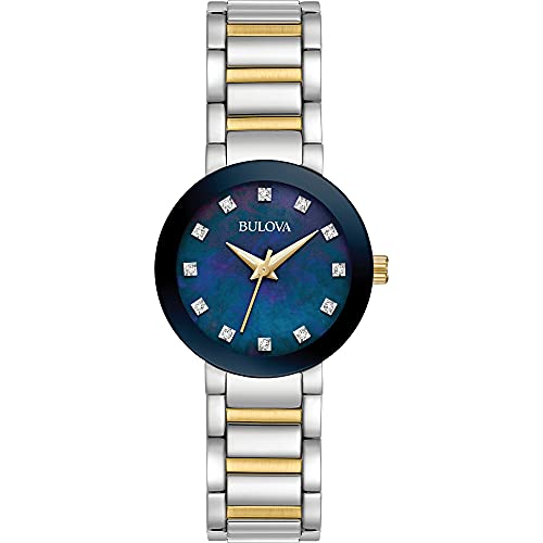 Bulova Modern Quartz Ladies Watch, Stainless Steel Diamond , Two-Tone...