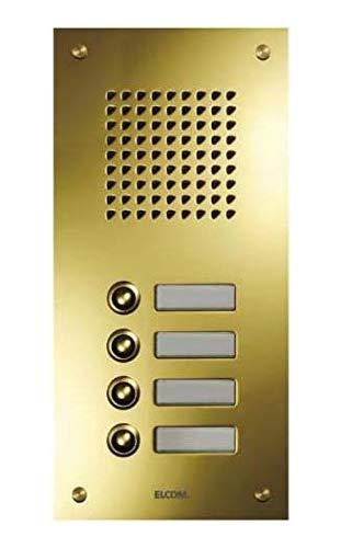 Elcom UP-Türstation TMG-11/1 11Taster,1-reih,PVD ESTA Klingeltableau für Türkommunikation 4250111845281