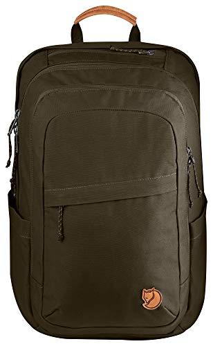 Fjällräven Rucksack Räven Backpack, Grün (Dark Olive), 46 x 31 x 28 cm, 28 Liter
