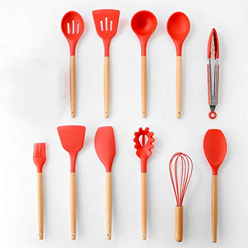 BBBB 9 / 11pcs ustensiles de Cuisine Set ustensiles de Cuisine Set ustensiles de Cuisine Silicone antiadhésif spatule cuillère Outil de Cuisson utensilios -b