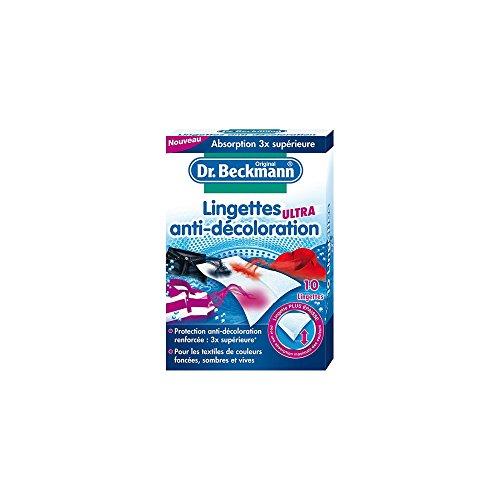 Dr. Beckmann - Lingettes Anti-Décoloration Ultra x10 - Protection contre la décoloration et maintien de l'éclat des couleurs sombres - Lingettes épaisses 3x plus absorbantes - Lot de 5