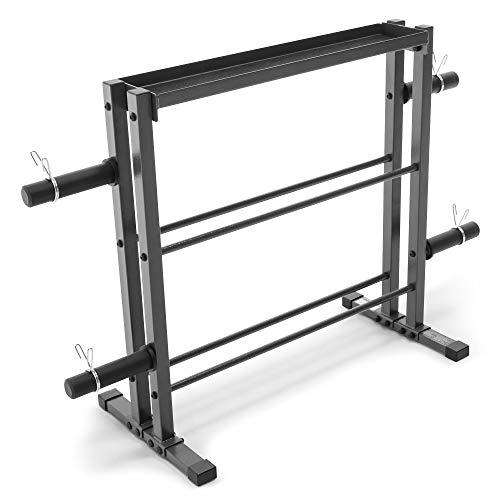 Marcy Combo Weights Storage Rack for Dumbbells, Kettlebells,...
