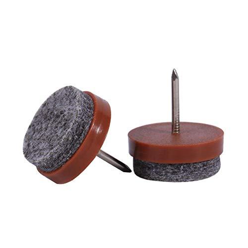 fasient 20mm 20Pcs / Set Almohadillas para Patas de Silla Almohadillas de Muebles de Fieltro, Almohadilla de Fieltro para Muebles, Protector de Piso de Fieltro Proteger la Pata de Muebles(Brown)