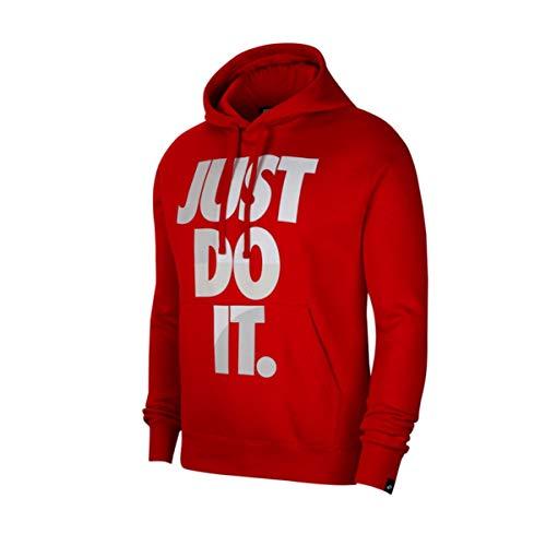 Nike Sudadera con capucha para hombre con interior suave afelpado. rojo S