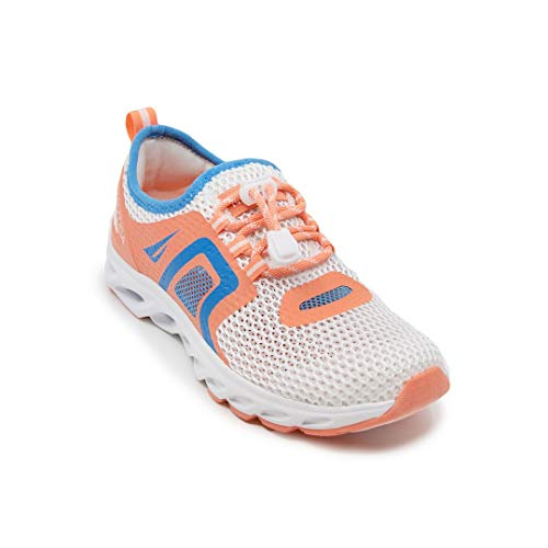 Nautica Womens Water Shoes Jogging Quick Dry Pool Sports Sneaker-Aslin-Coral/Blue-6