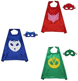 OEM Cape & Mask Boy Girl Party Costume 3 Sets - PJ Masks