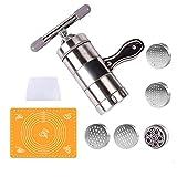 Muuzoning - Máquina profesional de acero inoxidable para hacer tallarines, espagueti, fideos de arroz, pasta, verduras, frutas, utensilio multifuncional de cocina