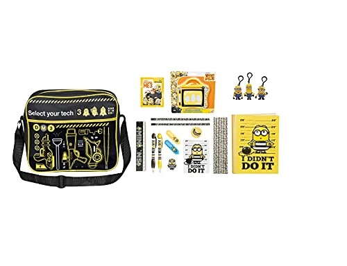 Despicable Me 3 Despatch Messenger Bag Super Stationery Set Notebook...