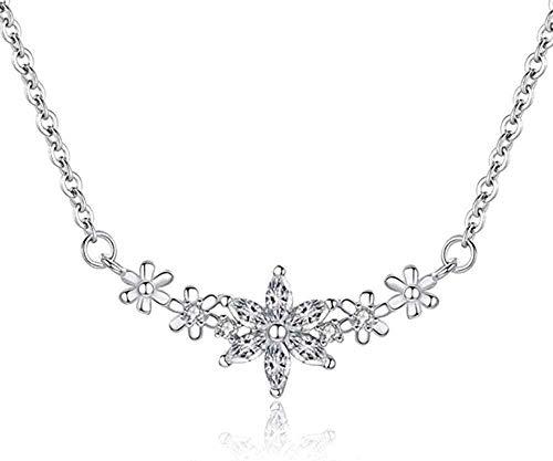 YZXYZH Collar Literario Flor Clavícula Cadena Temperamento Micro-Incrustaciones Personalidad Salvaje Collar Femenino Collar