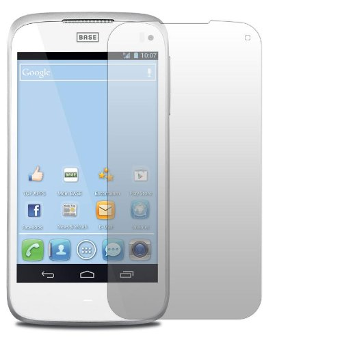 Slabo 2 x Bildschirmschutzfolie Base Lutea 3 | Alcatel One Touch 997D Schutzfolie No Reflexion|Keine Reflektion MATT - Entspiegelnd Made IN Germany