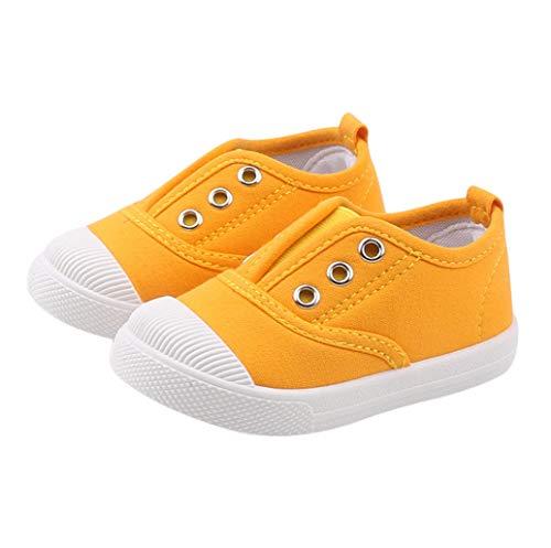 DEBAIJIA Niñas Niños Zapatos 2-5 Años Zapatillas de Deporte Lona Dulce Casual Suave Doble Suela de Moda Antideslizantes Transpirables Al Aire Libre Ligeros para Estudiantes de Primaria