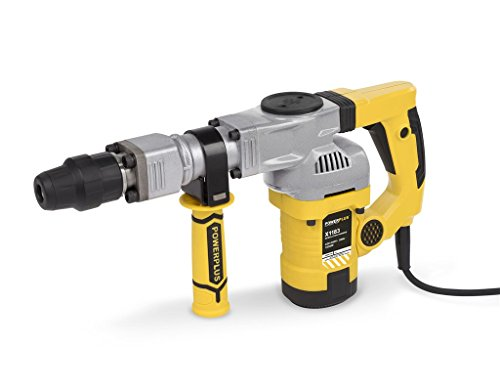 Powerplus powx1183 1050 W SDS Max Rotary Hammer – Bohrhammer (Black, Silver, Yellow, 220 – 240, 126 mm, 510 mm, 332 mm, 9.16 kg)