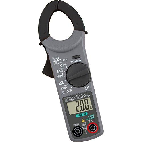 Kyoritsu Kew 200Pinza amperimétrica digital compacta para la tamaño de corriente AC, tensioni AC DC, resistencia, continuidad, Gris