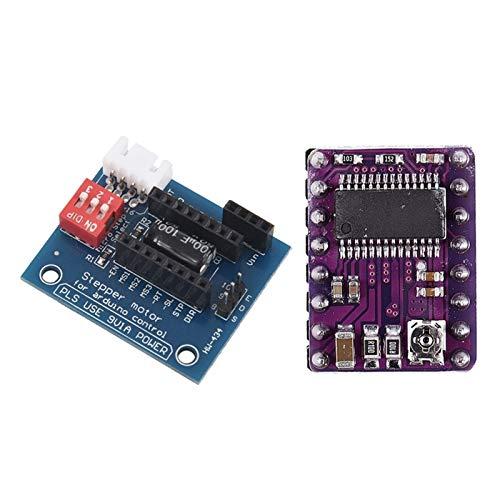 Zhang Asia For adaptarse a DRV8825 motor de pasos del conductor del módulo con la tarjeta de control de la impresora 1 piezas de metal azul + PCB 3D Motor Paso a Paso Drive ( Color : Blue Purple )