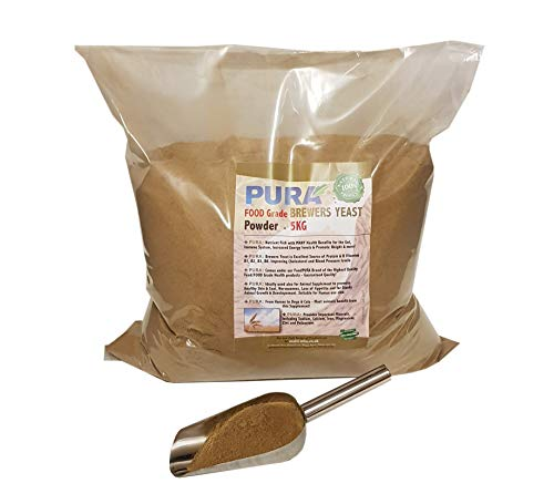 FoodPURA Brewers Yeast Powder 5KG - use with Horses, Ponies Vitamin B, E & H for Pets and Animals - For Healthy Skin and Coats - also Human FOOD Grade!