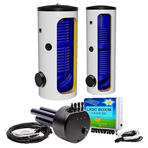 Hybrid, Photovoltaik, elektrische Standspeicher, Warmwasserspeicher mit 2 Wärmetauscher - Solarspeicher - für elektrischen Betrieb und Photovoltaikbetrieb - 200 250 300 400 500 L Liter…