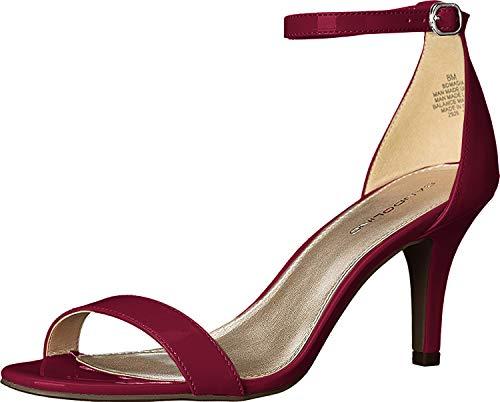 Bandolino Women's Madia Heeled Sandal, Rossy Red Patent, 9