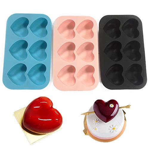 Snowtian 3Pcs Molde de silicona Galletas Molde Caramelo Molde Safe Baking Tray Maker,Moldes para Tartas en Espiral,Hornear Postre Mousse Utensilios para Hornear para Galletas, Rosquillas