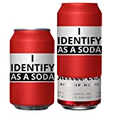 Beersy Can Cover Silicone Sleeve Hide a Beer to Look Like Soda, Fits 12 oz, Novelty Alcohol Disguise for Outdoor Events (I Identify As A Soda)