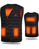 電熱ベスト 電熱ジャケット ヒーター付きベスト 內蔵 加熱ベスト ホットベスト 発熱ベスト USB加熱 3段溫度調整 アウトドアの防寒対策 男女兼用 水洗いでき しわなし 臭くない