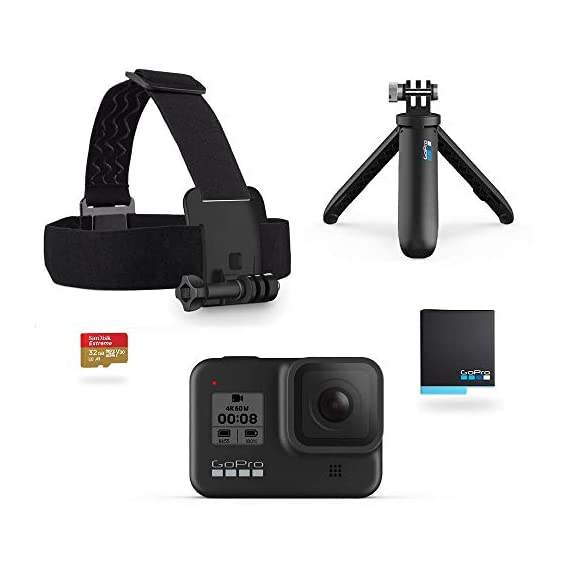 Gopro hero8 black holiday bundle - includes hero8 black camera plus shorty, head strap, 32gb sd card, and 2 rechargeable… 1 streamlined design: the reimagined shape is more pocketable, and folding fingers at the base let you swap mounts quickly. A new side door makes changing batteries even faster, and the lens is now 2x more impact resistant. Hypersmooth 2. 0: smooth just got smoother. Now hero8 black has three levels of stabilization—on, high and boost—so you can pick the best option for whatever you do. Get the widest views possible, or boost it up to the smoothest video ever offered in a hero camera. Plus, hypersmooth 2. 0 works with all resolutions and frame rates, and features in-app horizon leveling. Timewarp 2. 0: capture super stabilized time lapse videos while you move through an activity. And now, timewarp 2. 0 automatically adjusts speed based on motion, scene detection and lighting. You can even slow down the effect to real time—savoring interesting moments—and then tap to speed it back up.