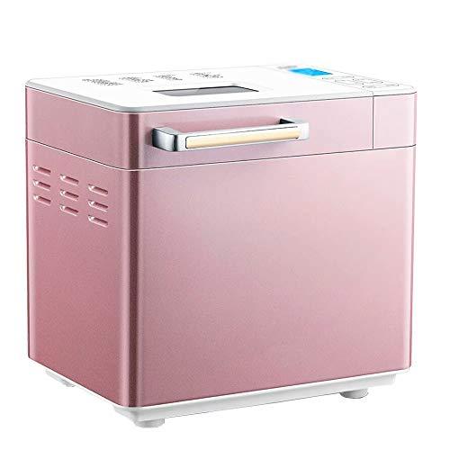 BR-EADJ Brotbackautomat, 25 Voreingestellte Funktionen Kleiner Multifunktionaler Haushalt Vollautomatischer Rosa Brotbackautomat Mit LCD Hd-Display, Frühstückstorten-Toaster