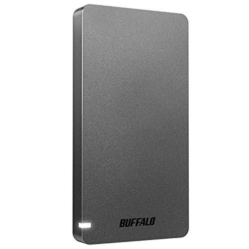BUFFALO USB3.2Gen2 ポータブルSSD 960GB 名刺サイズ 読込速度530MB/s 日本製 PS4(メーカー動作確認済) 耐...