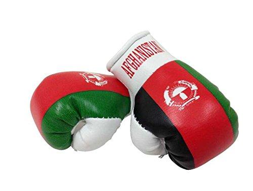 Mini Boxhandschuhe Afghanistan, 1 Paar (2 Stück) Miniboxhandschuhe z. B. für Auto-Innenspiegel