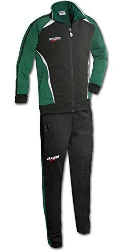 DragonSport Trainingsanzug Chelsea, Farbe:grün/schwarz, Größe:M