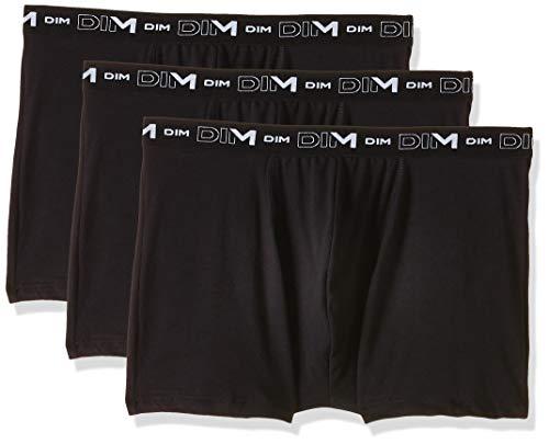 Dim Coton Stretch Boxer x3, Noir/Noir/Noir, 3 M/48/M (Pack de 3) para Hombre