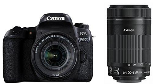 Canon デジタル一眼レフカメラ EOS 9000D ダブルズームキット EF-S18-55mm EF-S55-250mm 付属 EOS9000D-WKIT