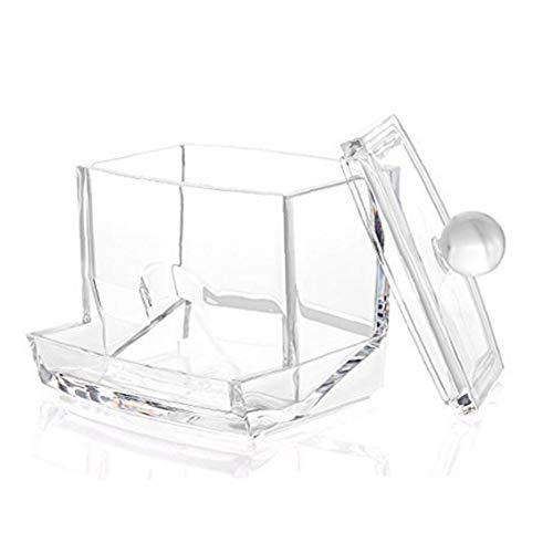 Berrywho Cotton Pad Holder Acrilico Contenitore di Cristallo cosmetico Caso di Trucco Storage Box Cotone germogli di plastica per Il Bagno