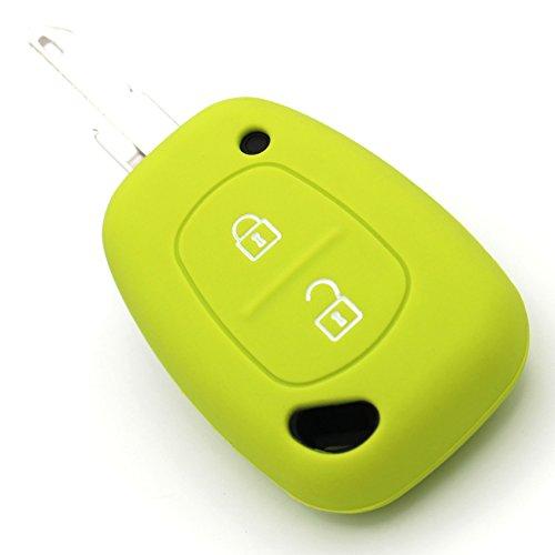 Coque de clé de voiture en silicone pour 2 boutons CoverYourKey (vert citron)