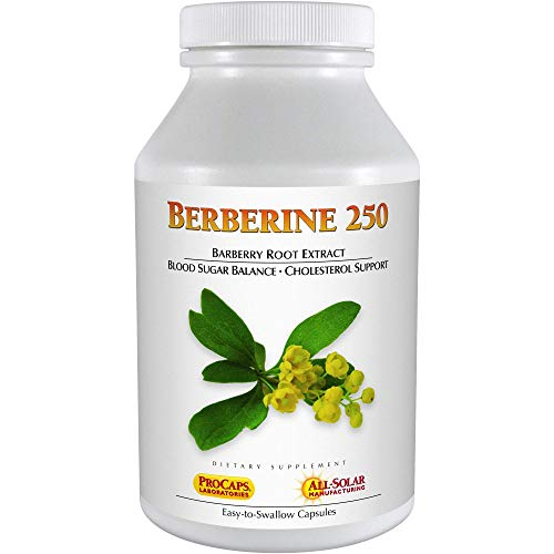 Andrew Lessman Berberine 250-360 Capsules – Barberry Root Extract. Naturally Supports Healthy Blood Sugars, Glucose and Cholesterol Metabolism, Small Easy to Swallow Capsules