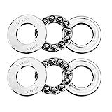uxcell 51102 Thrust Ball Bearings 15mm x 28mm x 9mm Chrome Steel ABEC3 Single Row Roller 2...
