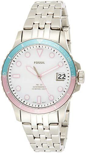 FOSSIL Reloj Analógico para Mujer de Cuarzo con Correa en Acero Inoxidable ES4741