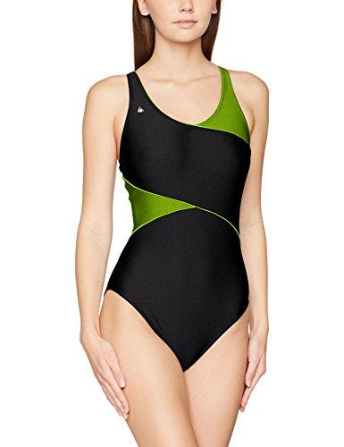 Aqua Sphere Ceylan Bañador de Competición, Mujer, Multicolor (Amarillo/Negro), 3XL