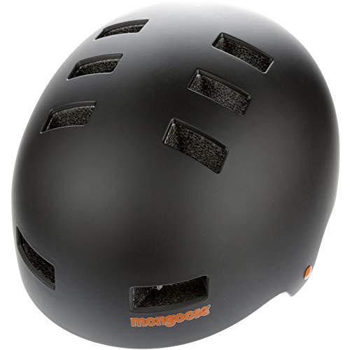 Mongoose BMX Scooter Skate Helmet LG Blk, Casco Unisex-Adulto, Nero, Large-60-62cm