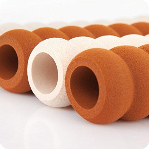 YeahiBaby 4 pezzi Maniglia per porta Maniglia per porta Paraurti per porta Protezioni per pareti (caffè)