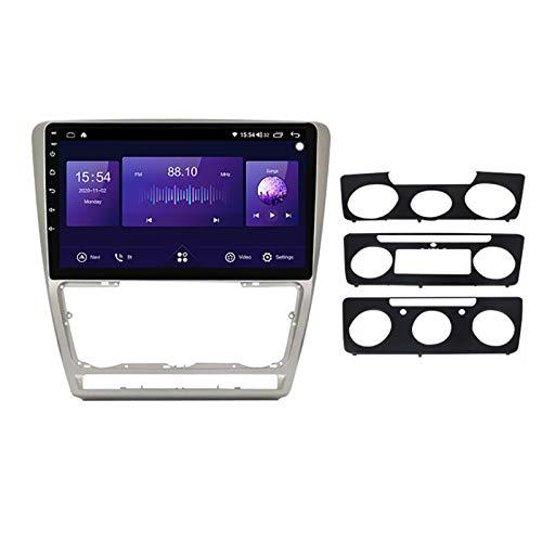 Unidad de cabeza de navegación GPS de coche Adecuado para Volkswagen Skoda Octavia 2008-2013 Coche Estéreo SAT Capacitivo Touch HD Carplay Sistema de radio incorporado Tracker,8Core 4G+WIFI:4+64G