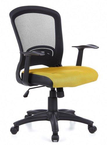HJH Office/Buerostuhl24 668023 Sedia da Ufficio Flyer 10, a Rete, Colore: Arancione